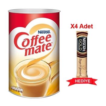Nestle Coffee-Mate Kahve Kreması 2 kg + 4 Adet Nescafe Gold Kahve 17 gr Hediyeli