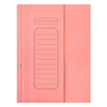Alemdar Lüks Karton Büro Dosyası Yarım Kapak Pembe 25'li