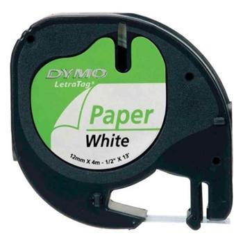 Dymo Letratag Kağıt Şerit 12mmx4m Beyaz