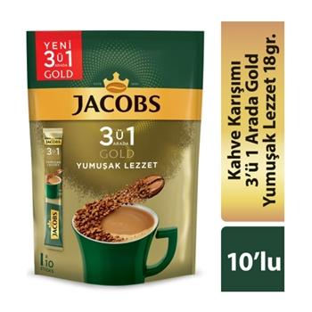 Jacobs 3ü 1 Arada Gold Yumuşak Lezzet 18 Gr 10'lu