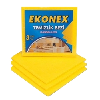 Polikur Ekonex 3'lü Temizlik Bezi