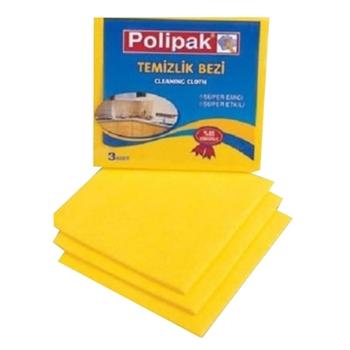 Polikur Polipak 3'lü Temizlik Bezi