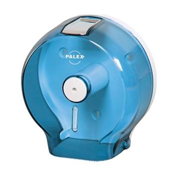 Palex 3444-1 Plastik Jumbo Tuvalet Kağıdı Dispenseri Şeffaf Mavi
