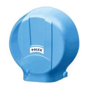 Palex 3448-1 Plastik Standart Jumbo Tuvalet Kağıdı Dispenseri Şeffaf Mavi