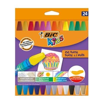 Bic Yağlı Pastel Boya 24 Renk