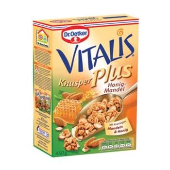 Dr. Oetker Vitalis Knusper Plus Çıtır Bal Bademli Müsli 450 gr