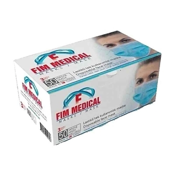 Fim Medical 3 Katlı Telli Cerrahi Maske 50'li 4 Al 3 Öde Kampanyalı