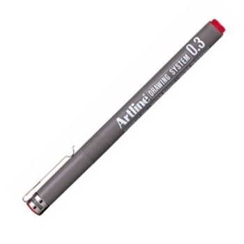Artline 233 Çizim Kalemi 0.3 mm Kırmızı 12'li