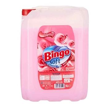 Bingo Soft Yumuşatıcı Gülpembe 5 lt