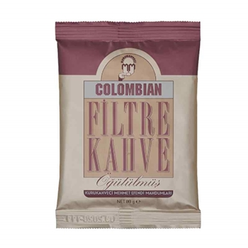 Kurukahveci Mehmet Efendi Colombian Filtre Kahve 80 gr x 12 Paket