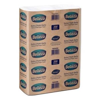 Belleza Extra Z Katlı Kağıt Havlu 20 x 24 cm 200'lü 12'li Paket