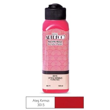 Artdeco Akrilik Boya 140 ml Ateş Kırmızısı