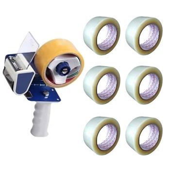 Mas 670 Koli Bant Makinesi + Gold Tape Koli Bandı Şeffaf 6'lı