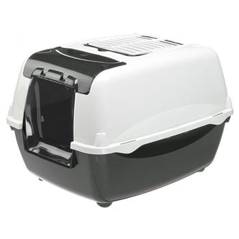 Ferplast Home Bella Cabrio Kapalı Kedi Tuvalet Kabı Siyah