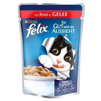 Felix Kedi Yaş Maması Sığır Etli 100 gr x 20 Adet