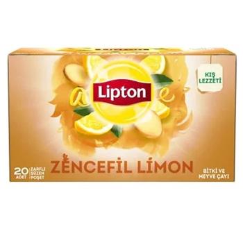 Lipton Bardak Poşet Bitki Çayı Zencefil Limon 20'li